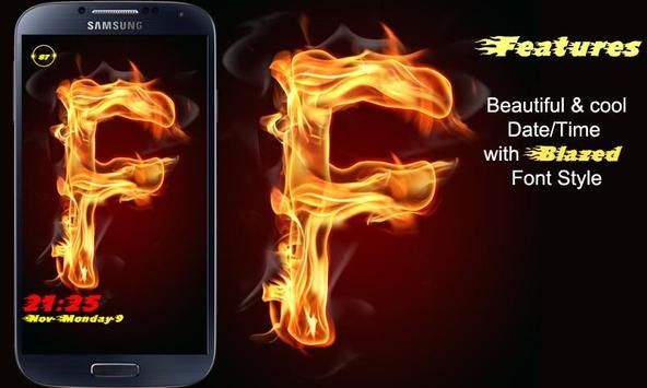 Burning Letter F Lock screenshot 5