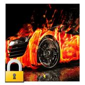 Burning Fire Car Lock icon