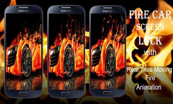 Burning Fire Car Lock poster