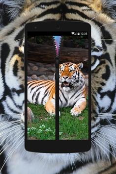 Tiger Zipper Wallpaper Theme apk screenshot