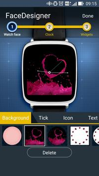 FaceDesigner:watch face making poster
