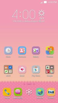 Lovely Pink ASUS ZenUI Theme apk screenshot