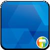 Simple Blue ASUS ZenUI Theme ikona