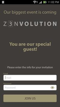 Z3nvolution - Launch Event App poster