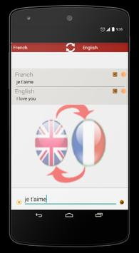 French/English Translation apk screenshot