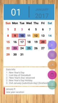 UK Calendar 2019 poster