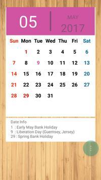 UK Calendar 2019 screenshot 1