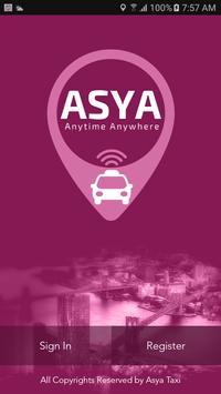 AsyaTaxi - Car Booking App poster