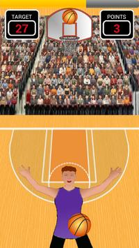 Basket 3 point shots free game poster