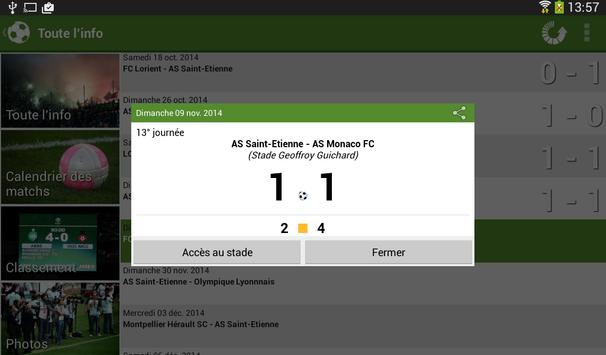 Foot Info Saint-Etienne screenshot 18