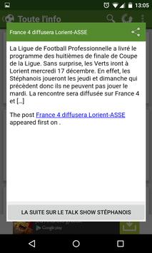 Foot Info Saint-Etienne screenshot 3