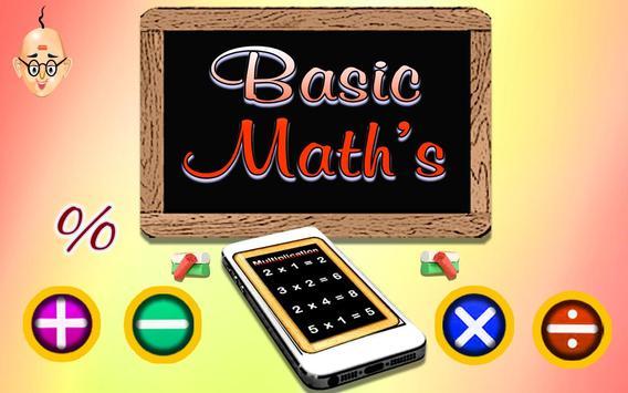 Basic Maths poster