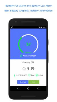 Full Battery Alarm and Battery Low Alarm poster