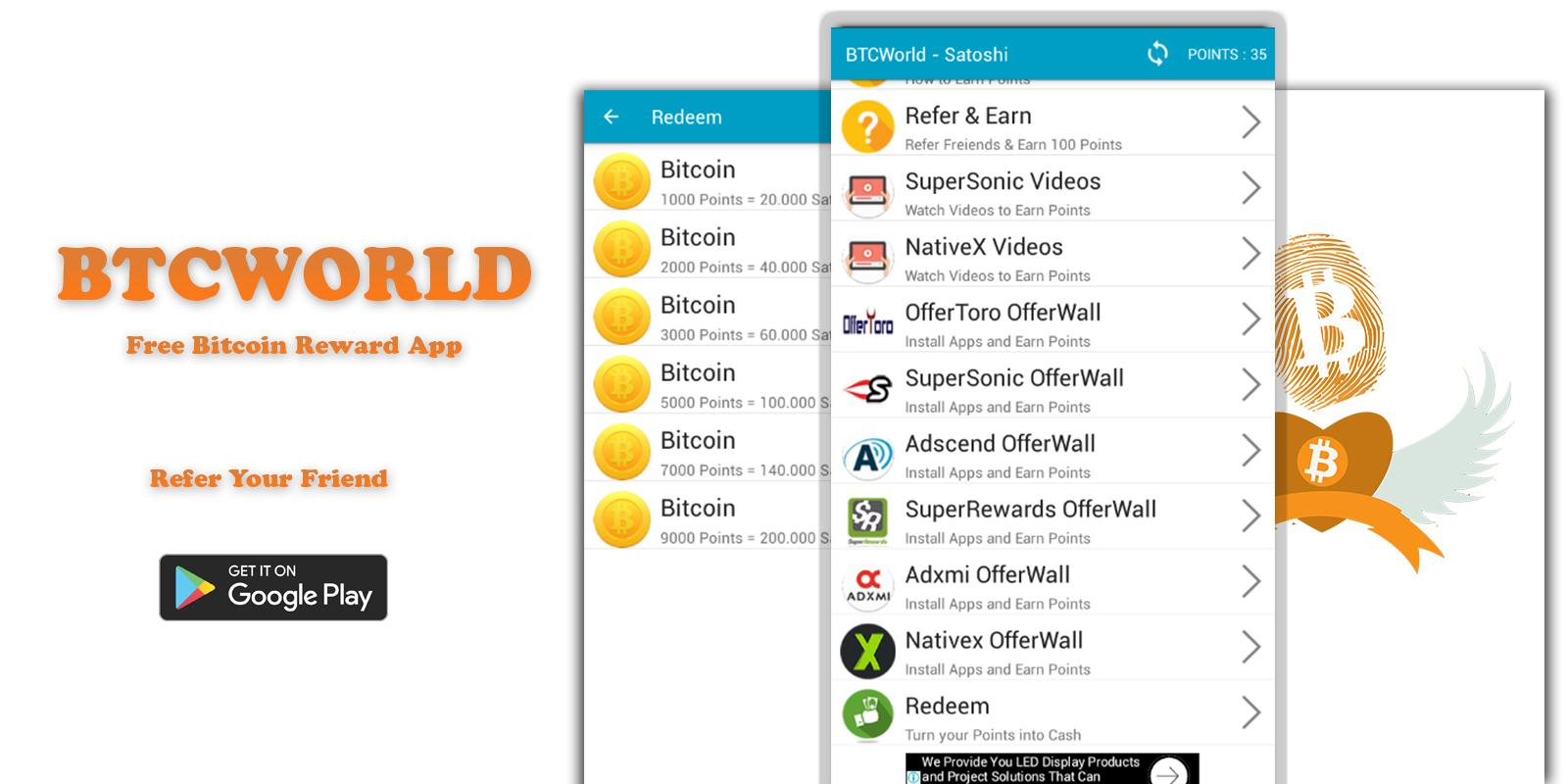 Btcworld Free Bitcoin Reward App For Android Apk Download -