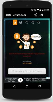 BTC Reward - Earn Free Bitcoin poster
