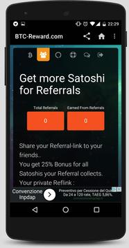 BTC Reward - Earn Free Bitcoin apk screenshot