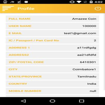 AMAZEECOIN TRADE apk screenshot