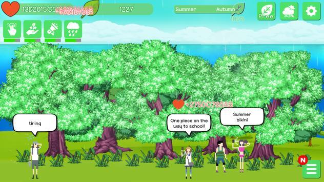 2 Schermata Blossom Clicker - 4 Seasons Relaxing Game
