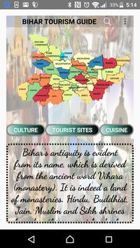 Bihar Tourism Service Guide & Map poster