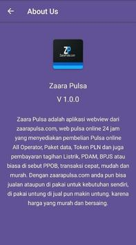 Zaara Pulsa screenshot 5