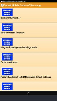 Secret Mobile Codes of Samsung apk screenshot