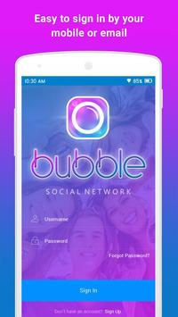 BUBBLE: Social + Messaging poster