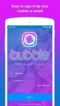 BUBBLE: Social + Messaging poster