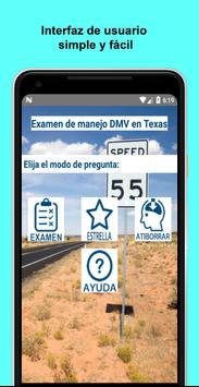 Examen de manejo DMV en Texas poster