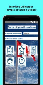 Test de citoyenneté canadienne poster