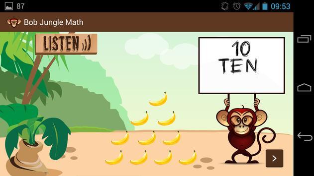 Bob Jungle Math apk screenshot