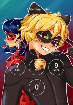 Free Lady Bug & Cat Noir Lock Screen screenshot 2