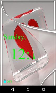 Heart Flip Screen Lock apk screenshot