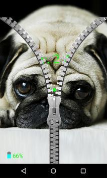 Pug Zipper Screen Lock apk screenshot