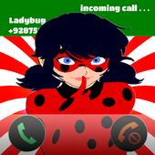 Fake call Miraculous - Ladybug icon