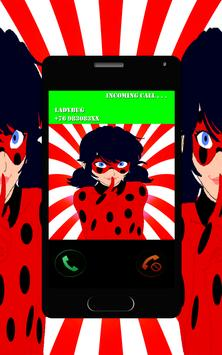 Fake call Miraculous - Ladybug apk screenshot