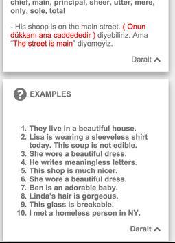 İngilizce Sıfatlar(Adjectives) apk screenshot