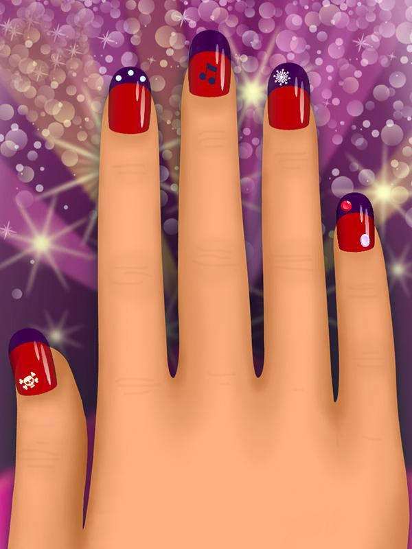 nail salon coloring pages-#44