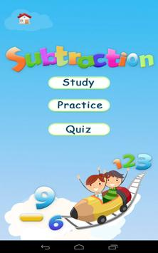 Subtraction - Math 1st grade poster