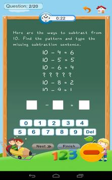 Subtraction - Math 1st grade screenshot 12