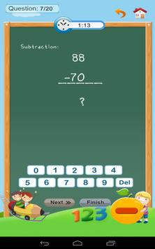 Subtraction - Math 1st grade screenshot 14