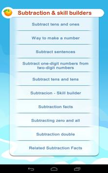 Subtraction - Math 1st grade screenshot 1