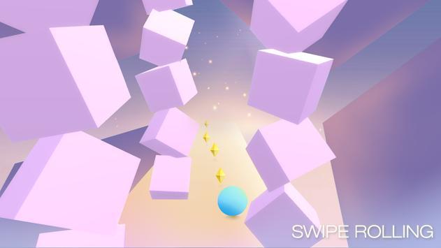 Swipe Rolling - Roll the ball in modern art apk screenshot