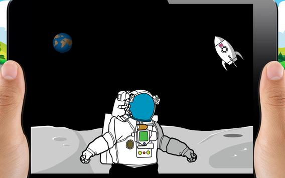Coloring Book Kids Gravity Space poster