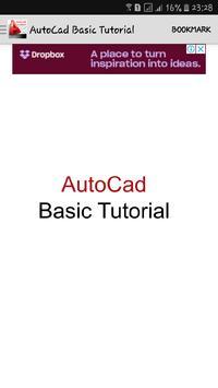 Book Basic Tutorial AutoCad poster