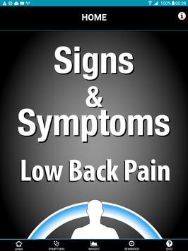 Signs & Symptoms Low Back Pain apk screenshot