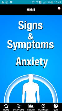 Signs & Symptoms Anxiety poster