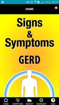 Signs & Symptoms GERD poster
