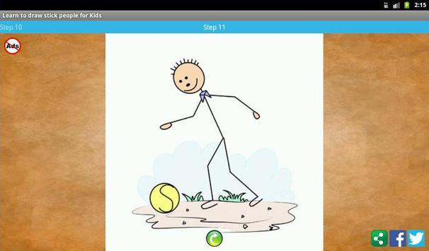 Learn to draw stick people screenshot 11
