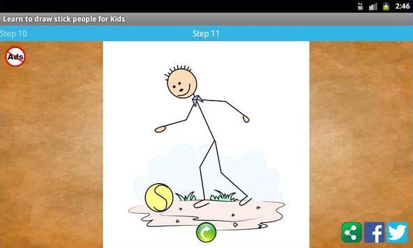 Learn to draw stick people screenshot 5