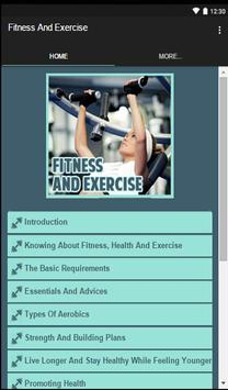 Fitness And Exercise apk screenshot